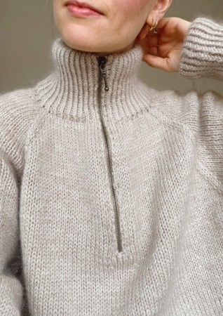 Zipper Sweater | Peer Gynt | Strikkepakke | PetiteKnit