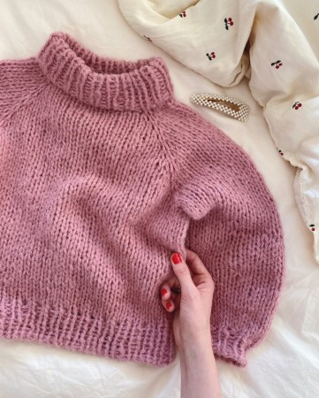 Louisiana Sweater barn | Børstet Alpakka | Oppskrift | PetiteKnit