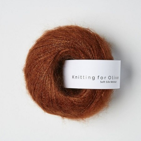 Knitting for Olive Soft Silk Mohair - NEW rust