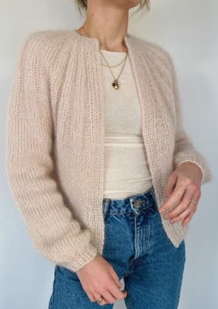 Sunday Cardigan Mohair Edition Oppskrift Petite Knit