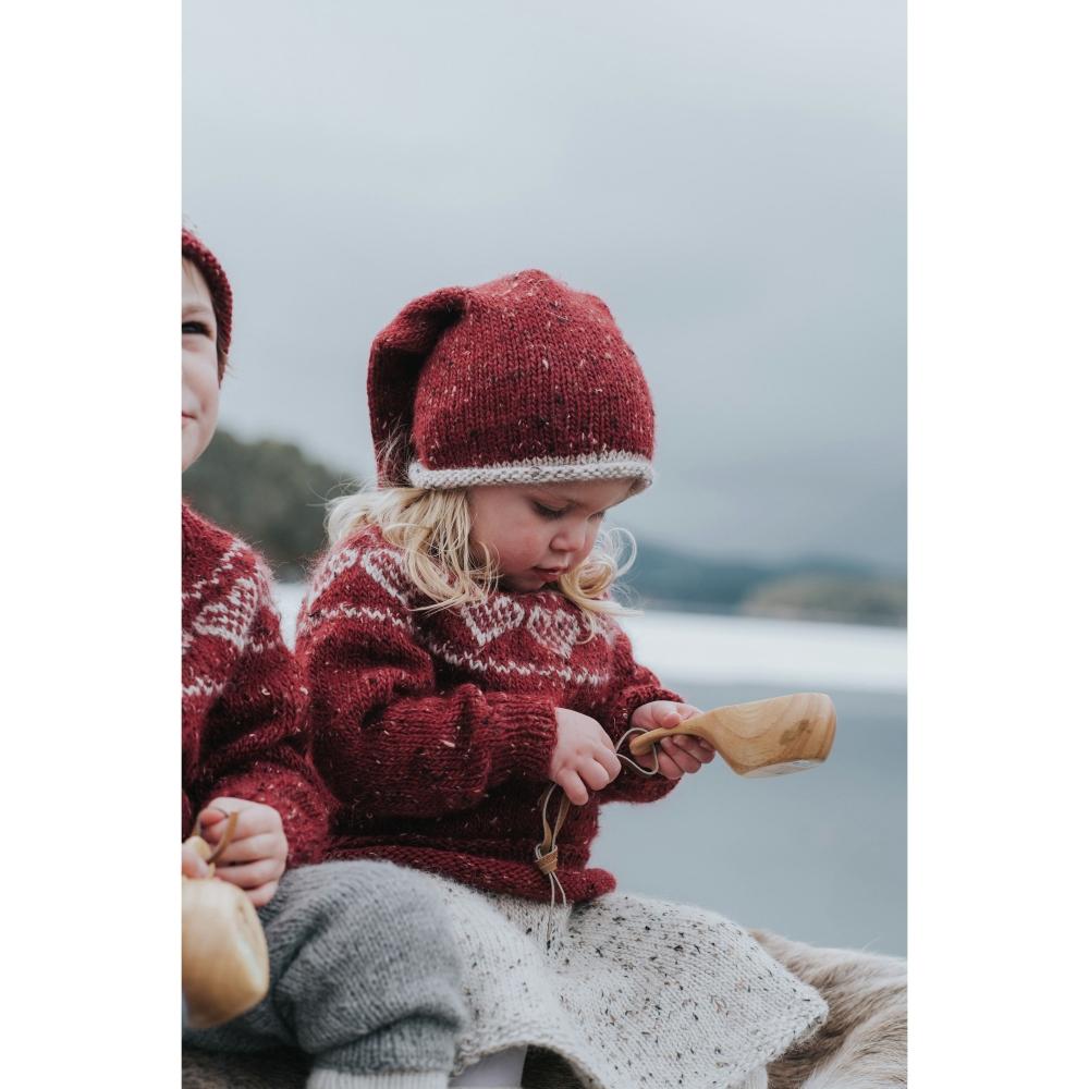 DSA73 45 HJERTEGENSER BARN (Alpakka Tweed Classic)