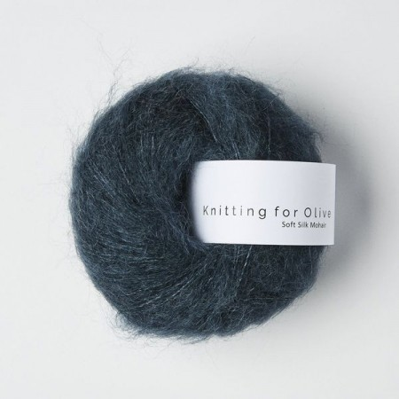Knitting for Olive Soft Silk Mohair - Deep Petroleum Blue / Dyp Petroleumsblå