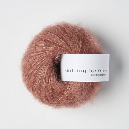 Knitting for Olive Soft Silk Mohair - Plum Rose / Blommerosa