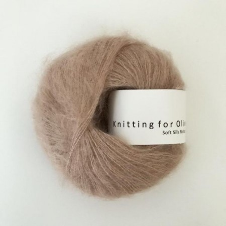 Knitting for Olive Soft Silk Mohair - Mushroom Rose / Champignonrosa