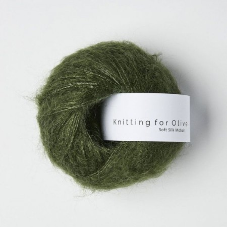 Knitting for Olive Soft Silk Mohair - Bottle Green / Flaskegrønn