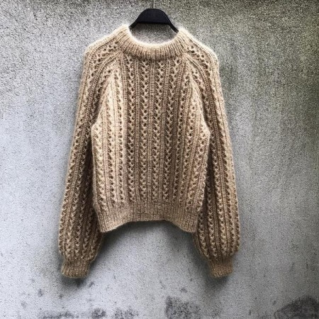 Vaffel Sweater Oppskrift Knitting for Olive