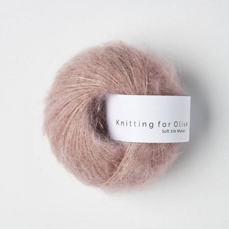 Knitting for Olive Soft Silk Mohair - Dusty Rose / Gammelrosa