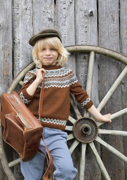 Lille Julia genser for barn Sandnes Garn