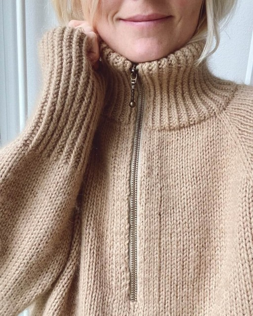 Zipper Sweater i fv Chai i Peruvian Highland Wool