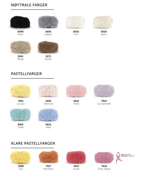 Acne genser i Line Langmo Påfuglgarn strikkepakke